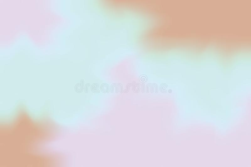 Błękitny purpurowy brown miękki kolor mieszał tło obrazu sztuki pastelowego abstrakt, kolorowa sztuki tapeta ilustracja wektor