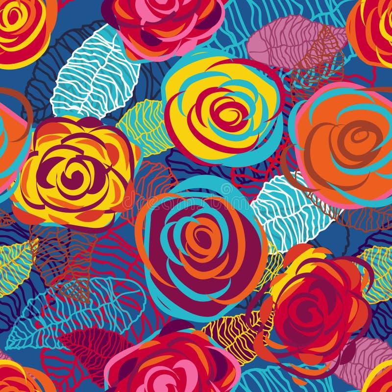 błękitny róże ilustracja wektor