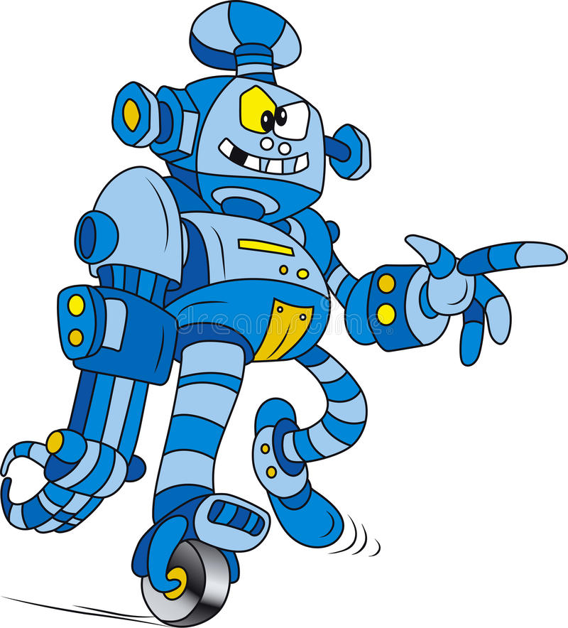 błękitny robot ilustracji