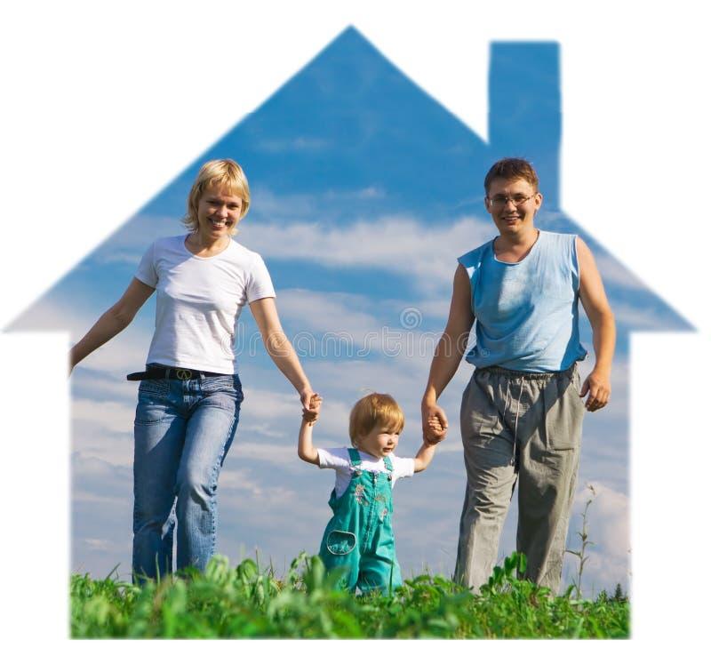 błękitny rodzinny niebo fotografia stock