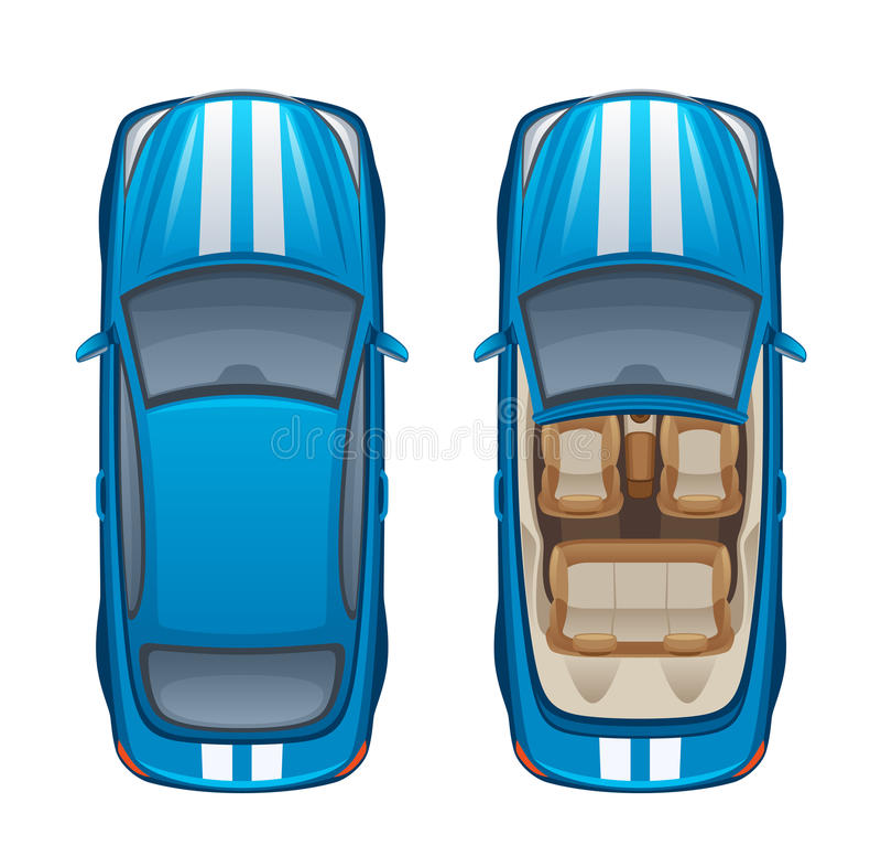 Błękitny samochód ilustracja wektor