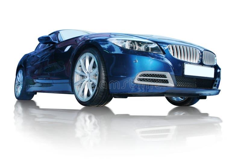 błękitny samochód obrazy stock