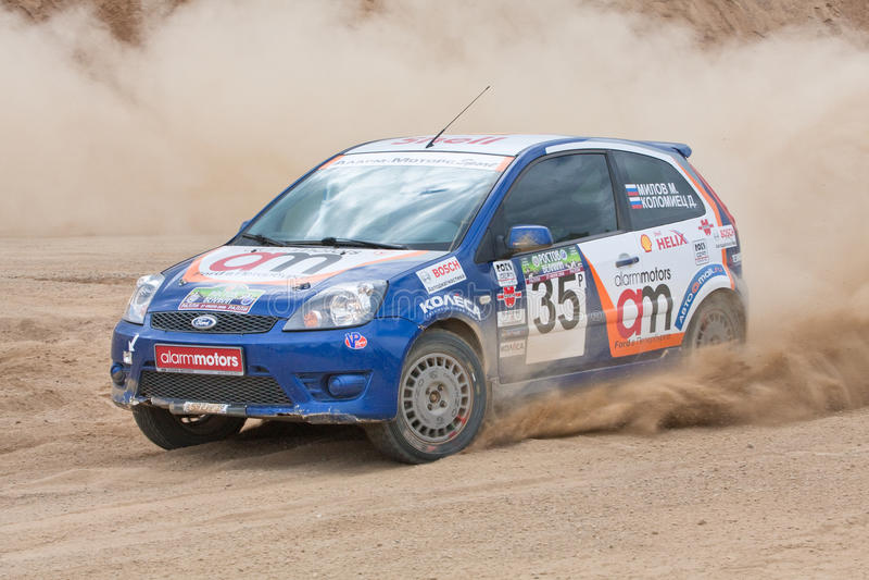Download Błękitny Samochodowa Fiesta Ostrości Rasa Obraz Editorial - Obraz złożonej z sport, cara: 13333695