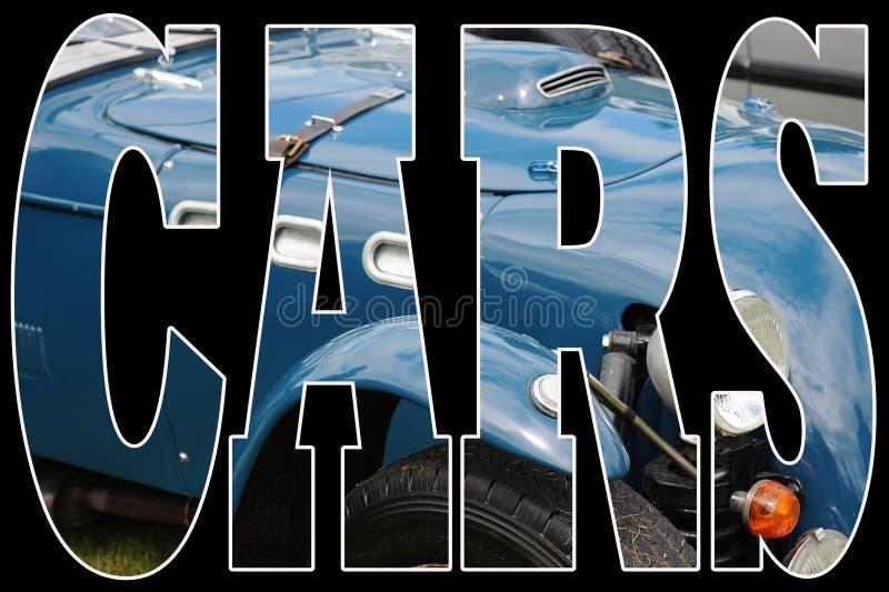 błękitny samochodowy klasyk royalty ilustracja