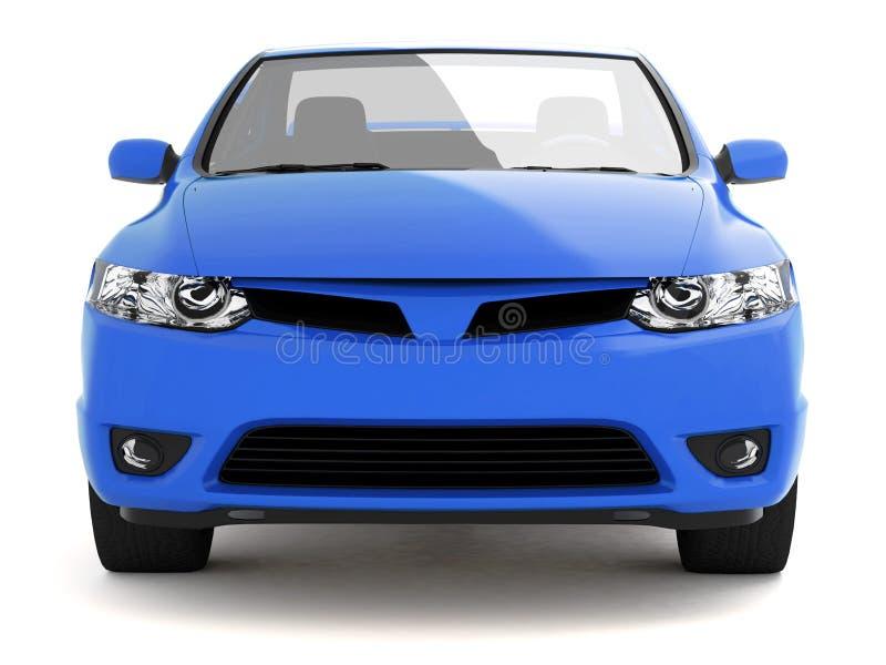 błękitny samochodu układu frontowy widok ilustracja wektor