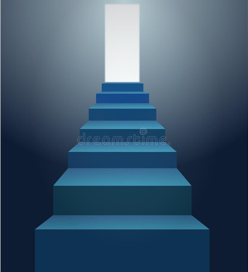 błękitny schodki royalty ilustracja