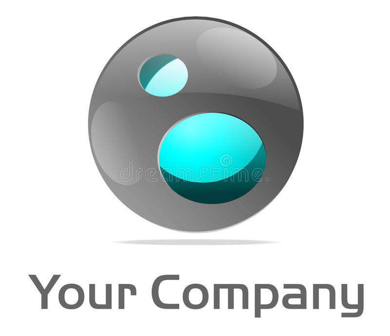 błękitny sedna loga sfera ilustracji