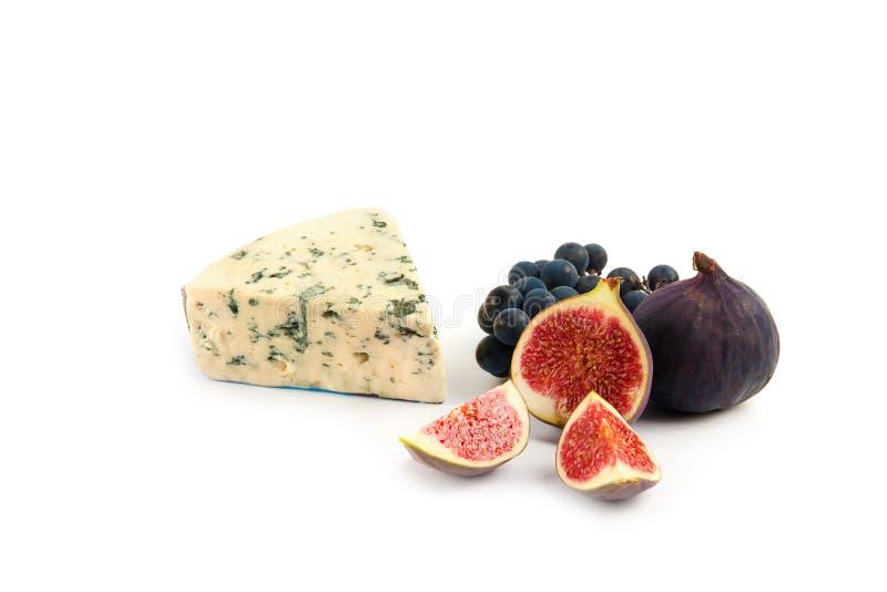 Błękitny ser odizolowywający na bielu zdjęcie royalty free