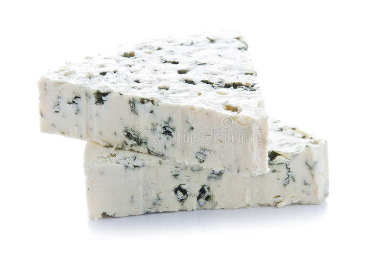 błękitny sera porcje obrazy stock