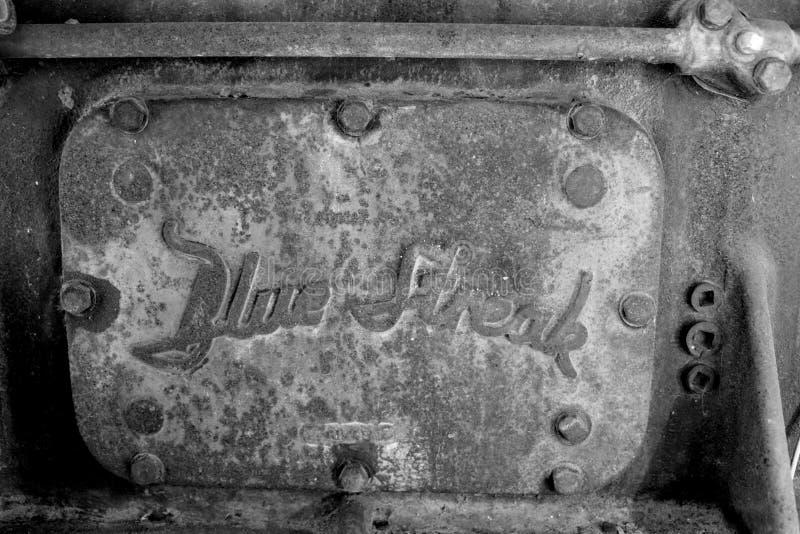 Błękitny smugi 6-Cylinder benzyny silnika talerz obrazy royalty free