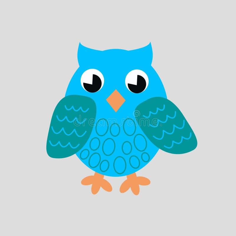 błękitny sowa ilustracji