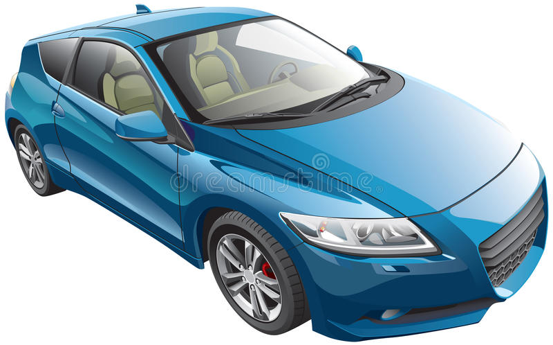 Błękitny sportowy samochód ilustracji