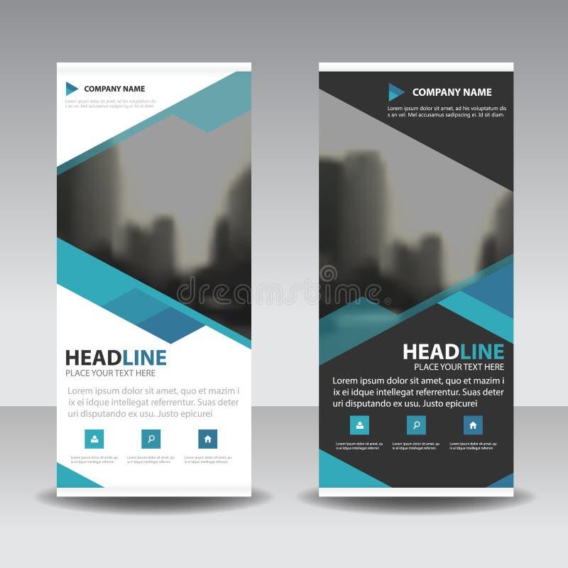 Błękitny stacza się up biznesowego broszurki ulotki sztandaru projekt, okładkowej prezentaci abstrakcjonistyczny geometryczny tło ilustracji