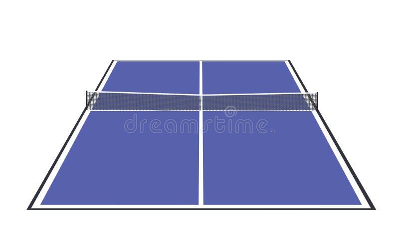 Błękitny stołowego tenisa pole royalty ilustracja