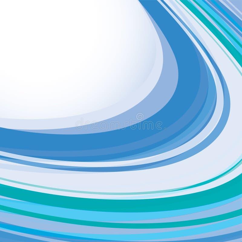 błękitny szablon ilustracja wektor