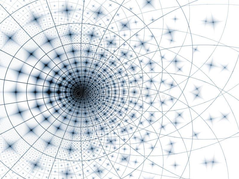 błękitny szarość siatki szablon ilustracji