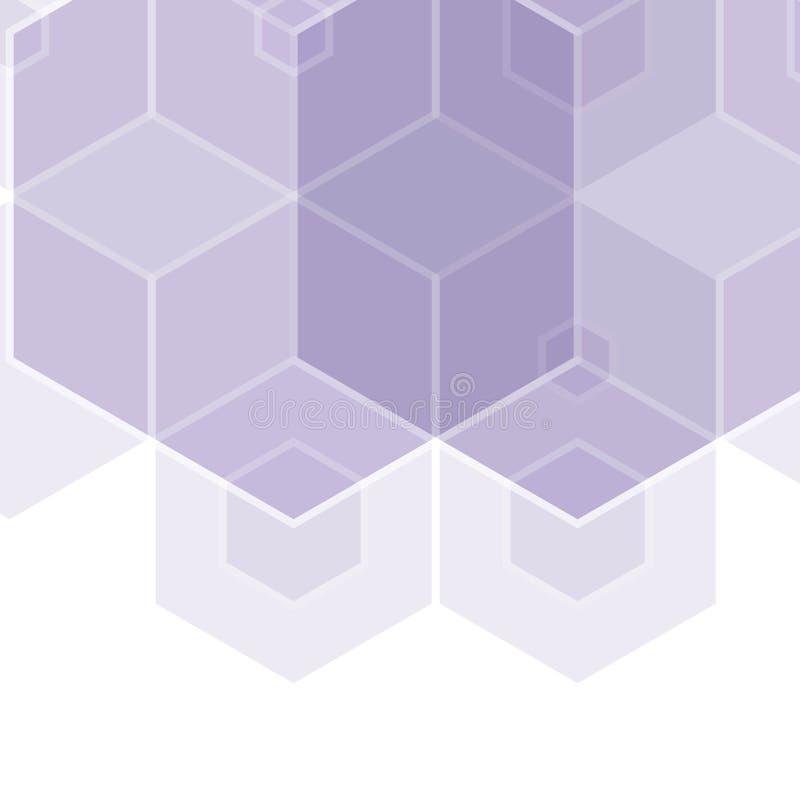 błękitny sześciokąty Układ dla reklamować Szablon dla prezentaci abstrakcjonistyczna ilustracja, wektorowy wizerunek oblicza geom royalty ilustracja