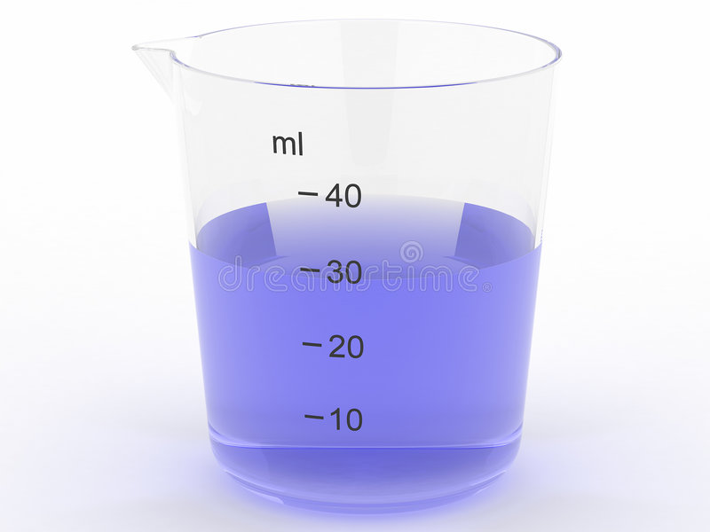 błękitny szklany ciekły target3845_0_ obraz royalty free