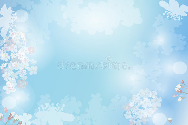 błękitny tło roślina ilustracji