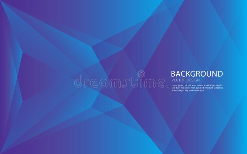 Błękitny tło szablon, wielobok tekstura, okładkowy projekt royalty ilustracja
