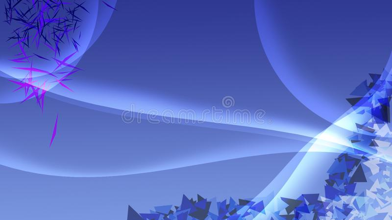 Błękitny tło z białą okrzesaną dekoracją tri i krzywami zdjęcia royalty free