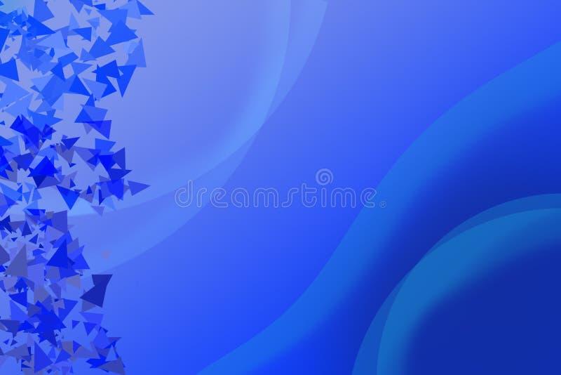 Błękitny tło z białą okrzesaną dekoracją tri i krzywami fotografia royalty free