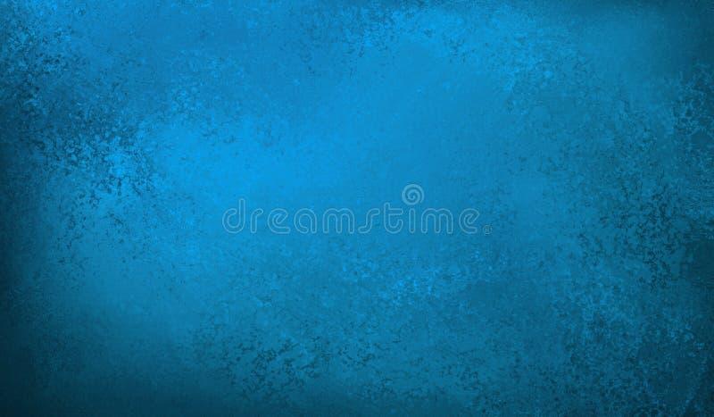 Błękitny tło z rocznika grunge teksturą w zakłopotanym czarnym pobrudzonym grunge projekcie ilustracja wektor