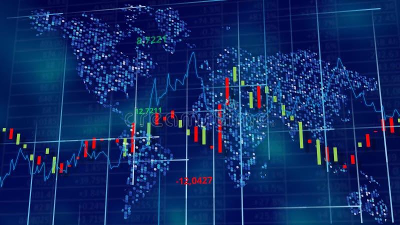 Błękitny techniki tło akcyjni diagramy, wykresy i stoły -, zdjęcia stock