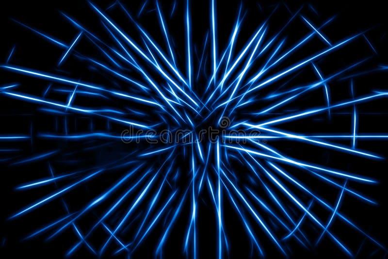 Błękitny telekinezja promieni ilustraci tło royalty ilustracja