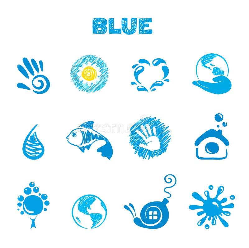 błękitny temat ilustracji