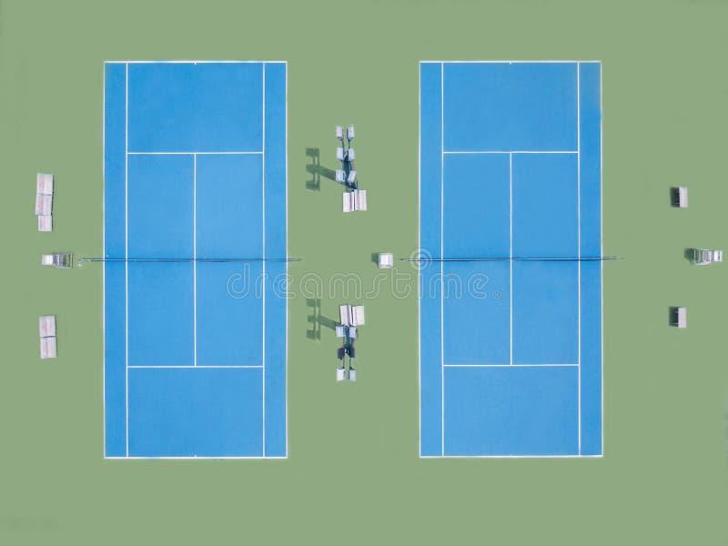 Błękitny tenisowy sąd dla sztuki w stadium obrazy royalty free