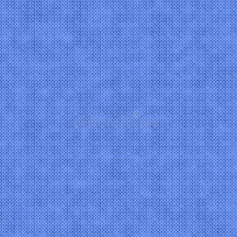Błękitny textured tło z trykotowym wzorem obraz stock