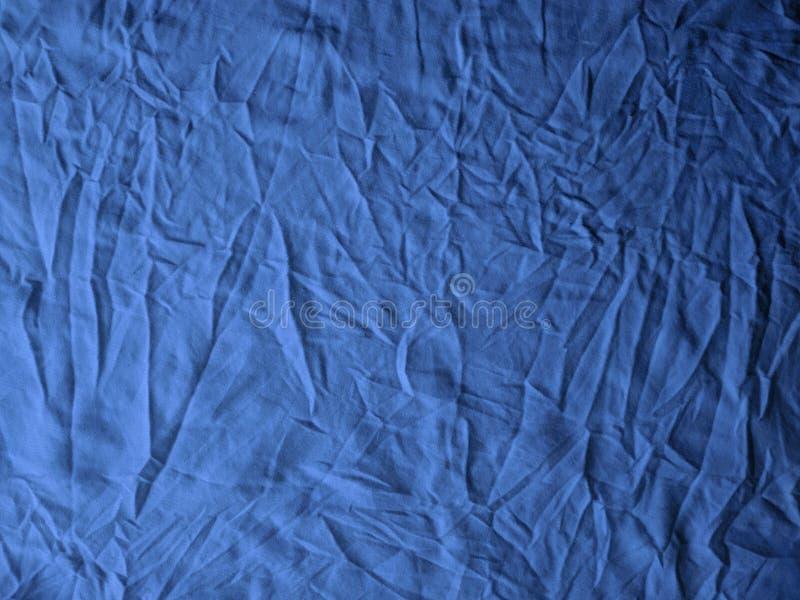 Błękitny tkaniny tekstury tło, kołtuniasta tkaniny tekstura, przemysłu włókienniczego tło obraz stock