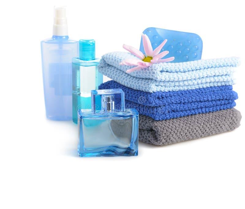 Błękitny toiletries zdjęcia stock