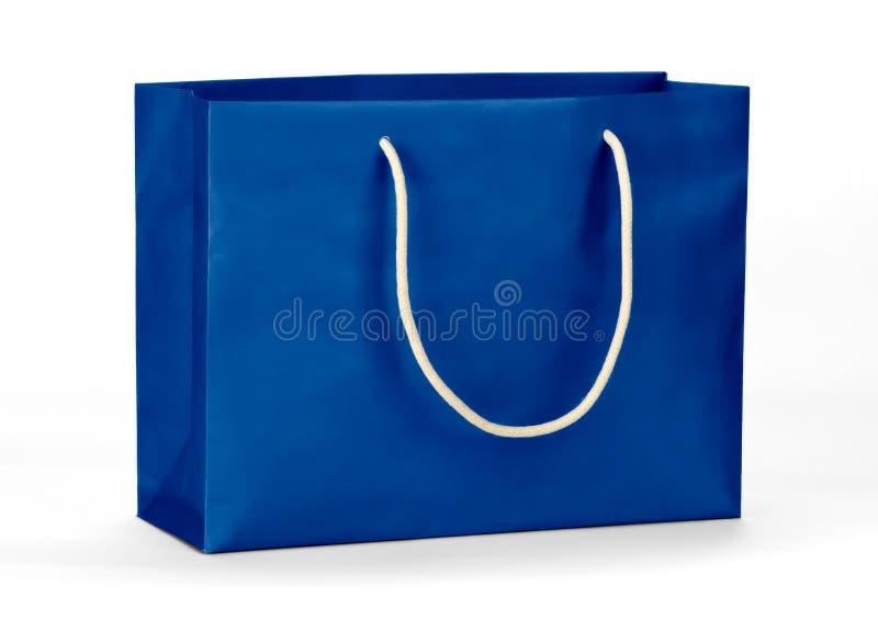 Błękitny torba na zakupy. zdjęcia stock