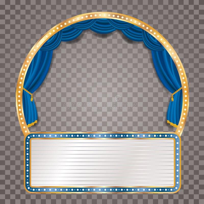 Błękitny trans sceny billboard ilustracja wektor