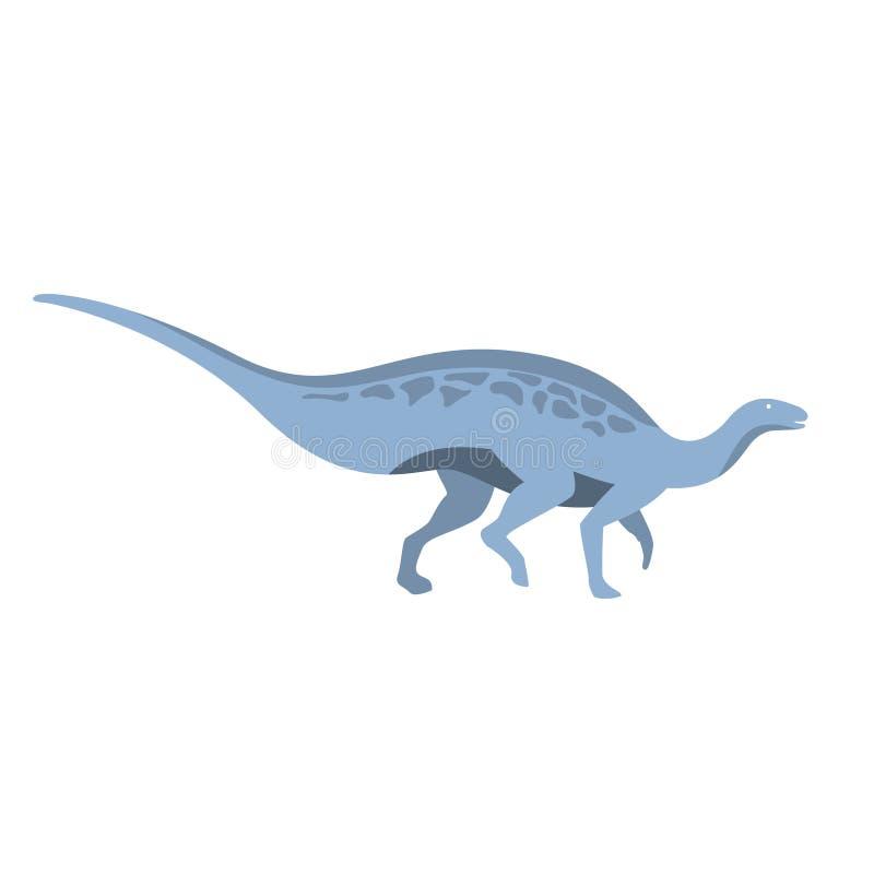 Błękitny Trawożerny dinosaur Jurajski okres, Prehistorycznej Wymarłej Gigantycznej gad kreskówki Realistyczny zwierzę royalty ilustracja