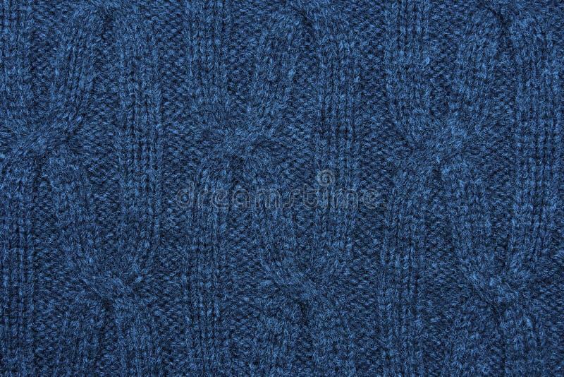 Błękitny trykotowy tło zdjęcia stock
