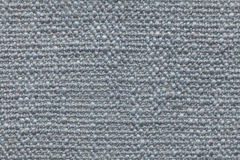 Błękitny trykotowy woolen tło z wzorem miękka część, wełnisty płótno Tekstura tekstylny zbliżenie zdjęcia royalty free