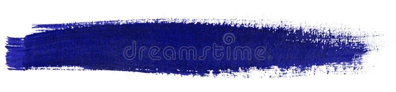 Błękitny uderzenie akwareli farby muśnięcie ilustracja wektor