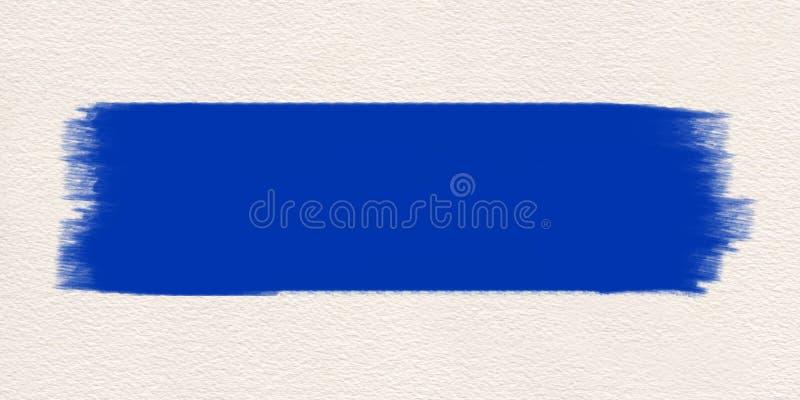 Błękitny uderzenie farby muśnięcia wodny kolor ilustracja wektor