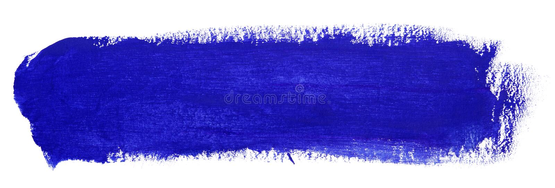 Błękitny uderzenie guasz farby muśnięcie ilustracja wektor