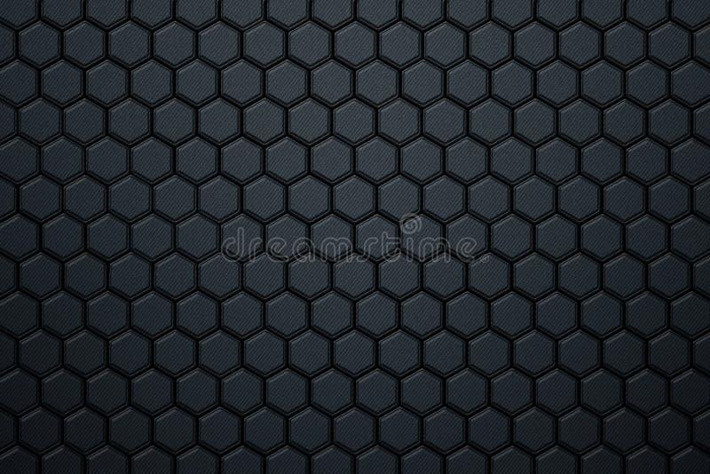 Błękitny węgla włókna sześciokąta wzór zdjęcia royalty free