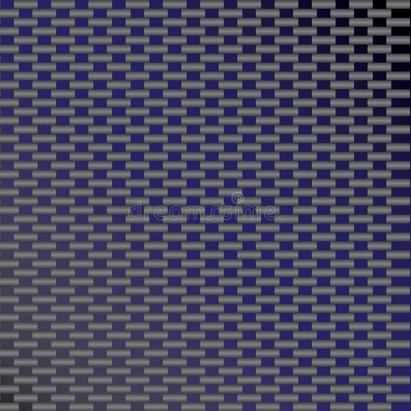 błękitny węgla włókna wektor royalty ilustracja