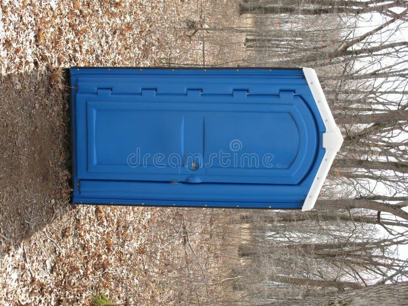 Błękitny w błękitny Porta drewna obraz stock
