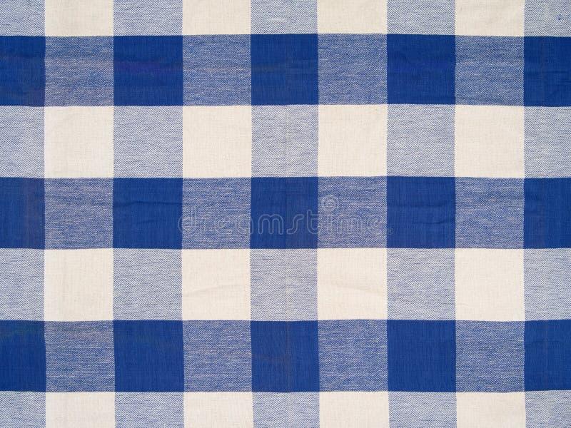 Błękitny w kratkę tablecloth zdjęcia royalty free