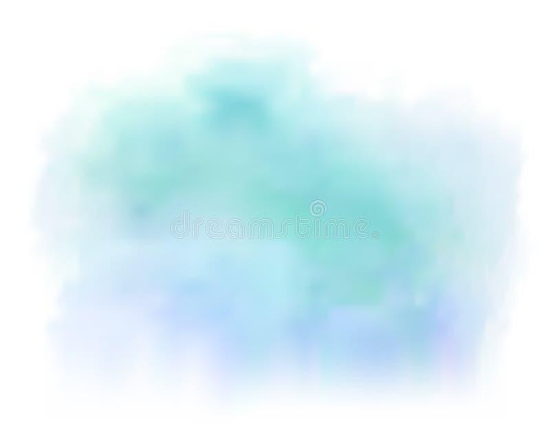 Błękitny wektor malujący akwareli pluśnięcia tło ilustracji