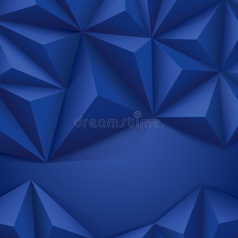 Błękitny wektorowy geometryczny tło. royalty ilustracja
