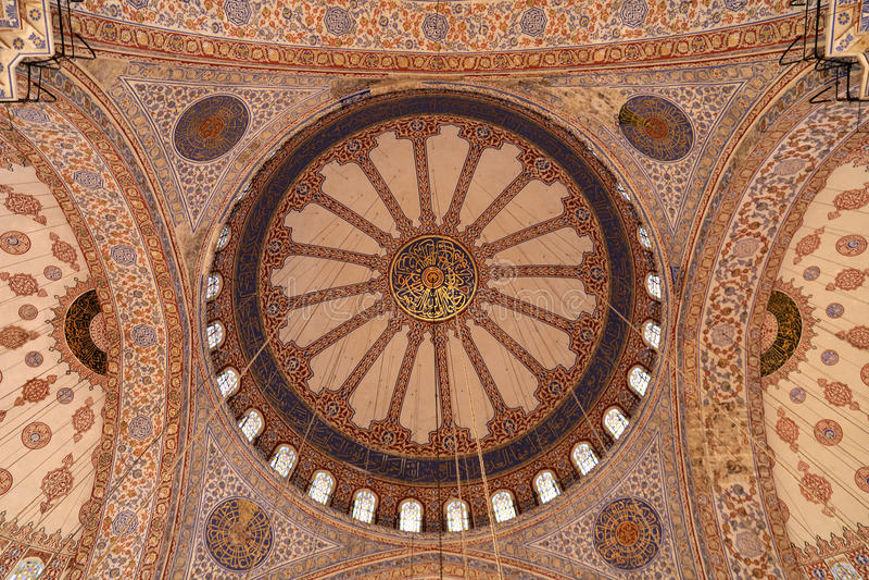 błękitny wewnętrzny meczet zdjęcie stock
