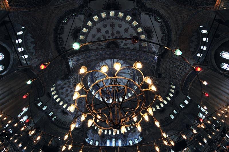 błękitny wewnętrzny meczet fotografia stock